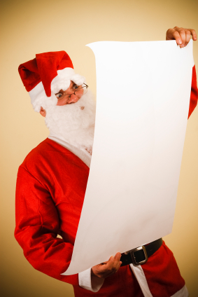 Santa Claus Reads His Christmast List